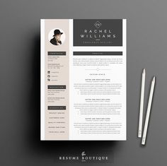 Resume Template 4 page pack | Sultry @creativework247