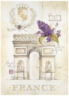 Arc de Triomphe Lilacs Print by Angela Staehling at AllPosters.com