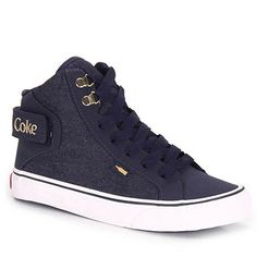 Tênis Casual Feminino Coca Cola Envy - Jeans Goth Boots, Shoes Sandals, Shoes Sneakers, Sneaker Boots, Designer Shoes, Nike Free, High Top Sneakers, Coca Cola, Footwear
