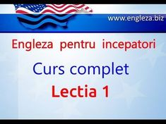 Curs de Limba Engleza Incepatori Complet Lectia 1 - YouTube English Lessons, Learn English, Thing 1, English Vocabulary, Teaching English, Youtube, Audio, Education, Learning