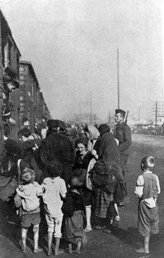 Siedlce, Poland, Deportation- women and children boarding train cars, 23/08/1942.