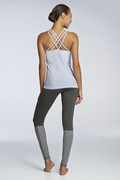 Commanding outfit from Fabletics.  Vaasa tank and Mossel leggings.  Re-pin to win #Fabletics