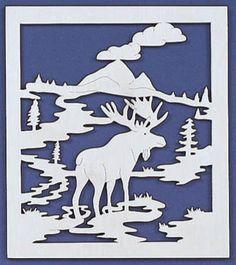 Moose Territory Fretwork Pattern