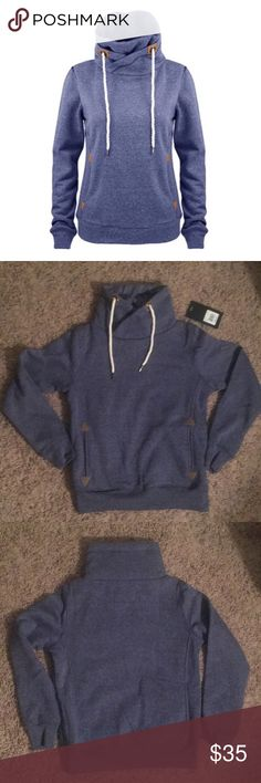 NWT Cowl Neck Pullover Adorable fleece-lined cowl neck pullover. Runs a tad small. Tops Sweatshirts & Hoodies