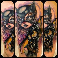 Batgirl tattoo by Kelly Doty