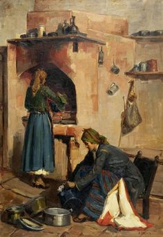 At the kitchen  by Vassilios Germenis - Βασίλειος Γερμενής - Στην κουζίνα