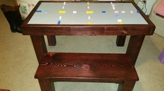 20x40 all Stained Lego Table with Bench 2x4's #LegoTable #FarmTablesnMoreByJerrod