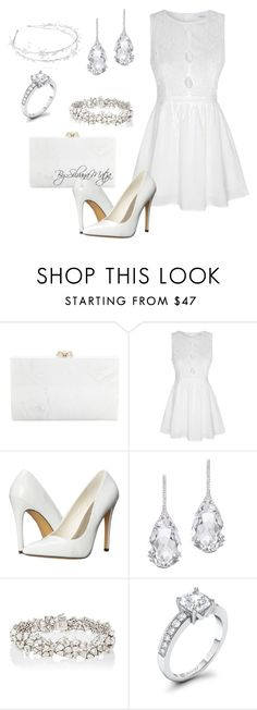 """""""Engagement Party Total White Outfit"""" by silvanamatja ❤ liked on Polyvore featuring Charlotte Olympia, Glamorous, Michael Antonio, Plukka and Monique Péan"""