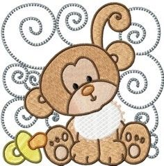 Embroidery Baby Animal Designs