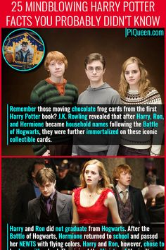 Remember those moving chocolate frog cards from the first Harry Potter book? J.K. Rowling revealed that after Harry, Ron, and Hermione became household names following the Battle of Hogwarts, they were further immortalized on these iconic collectible cards. #HarryPotter #Pottermore #Hogwards #WizardingWorld #MagicalWorld #Potter #Movies #Books #PiQueen