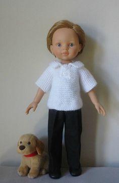 Polo pour poupée Paola Reina version garçon. (Adaptation du modèle de Nathalie du blog « Histoires de Poupées » du 06 novembre 2013) - http://p8.storage.canalblog.com/82/39/1066432/106966834.pdf