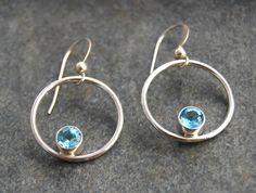 Swiss Blue Topaz and Silver Earrings – Emma's Jewelry Box- $65