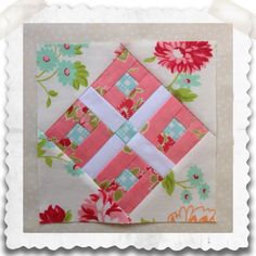 Threadbare Creations- Chatelaine Free BOW Sampler Quilt Block 48