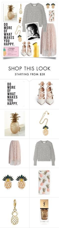 """Pineapple Happy"" by linmari ❤ liked on Polyvore featuring Native State, Gianvito Rossi, Jay Strongwater, Anton Heunis, Chicwish, Eleven Six, Sonix, Thomas Sabo and Yves Saint Laurent"