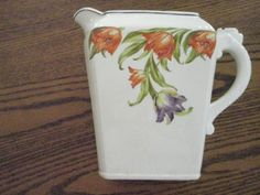 Harker Pottery Co. Vintage Ruffel Tulip Pitcher