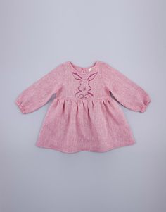 Pink long sleeve linen dress top for girls with gathers and a rabbit print on the bodice. Wear with leggings Fabric Composition: linen Made in South Africa Available Sizes: years years years years years years years Metal Buttons, Kids Clothing, 6 Years, Boy Or Girl, Kids Outfits, Rabbit, Long Sleeve, Girls, Pink