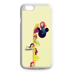 Disney Princess Climbing Rapunzel's Hair iPhone 6 Case