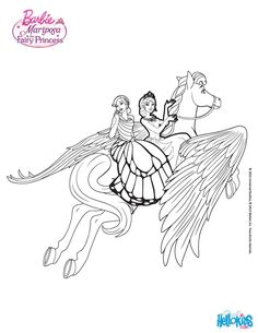 Mariposa And Princess Catania Coloring Page More Barbie Sheets On Hellokids