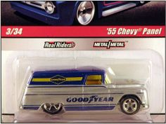 2010 Hot Wheels 1:64 Delivery Slick Rides '55 Chevy Panel w/Real Riders & Metal Body by Mattel. $15.00