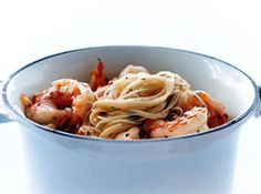 Shrimp & Pasta Recipes with Olive Oil and Pine Nuts from @Just A Pinch Recipes #recipe #oliveoil #pasta