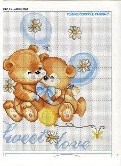 Sweet love bear chart2