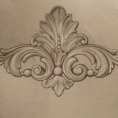 24 Ideas Drawing Pencil Sketches Leaf For 2019 Wood Carving Designs, Wood Carving Patterns, Wood Carving Art, Wood Art, Love Drawings, Pencil Drawings, Art Drawings, Filagree Tattoo, Baroque Frame