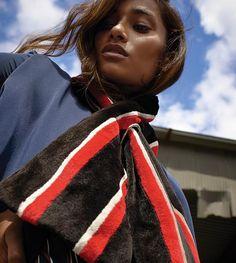 1. THE SCARF | Elevate boarding school–worthy stripes in vibrant fur. Balenciaga mink scarf, $7,150,