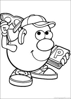 mr potato head coloring page for introduction to the
