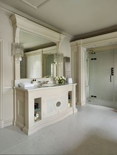 Soft tones of white marble glass and stainless steel