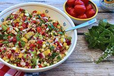 Italian Food Forever » Italian Chopped Salad With Farro & Chickpeas