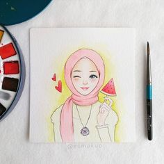 New fashion ilustration watercolor face girls 50 Ideas Sketches, Girly Art, Islamic Art, Art Drawings, Hijab Drawing, Anime Sketch, Art Sketches, Cute Drawings, Islamic Artwork