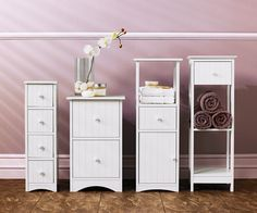 For An Elegant Twist Update Your Bathroom With These Convenient Storage Units In White