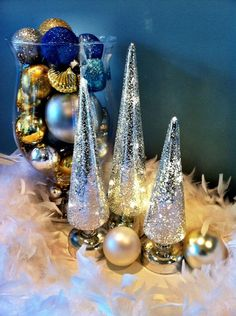 Beautiful blue Holiday Decor
