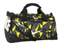 Nike Team Training Small Duffel - Graphic #Duffle-Bags #Electrolime/Black/White/Fractured-Tonal-Print