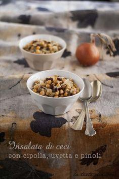 Insalata tiepida di ceci con cipolla, uvetta e pinoli | La tarte maison
