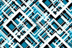 graphic design: Trendy contrast geometric seamless pattern. Vector line design fashion textile, fabric print, website template. Abstract background of white, blue, black squares. Vector contrast graphic image