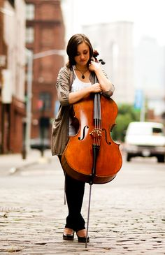 me and my cello. love.