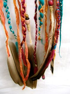 Large Dream Catcher  Coral & Teal  Boho  Rustic  by Thepaintedwood, $50.00