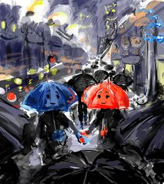 The Blue Umbrella (Pixar) by AbstractSun.deviantart.com on @deviantART