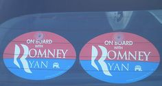 2 Pack - ON BOARD WITH ROMNEY / RYAN plastic hanging car window sign, just $4.99...price includes free shipping anywhere in the USA - Available on Ebay, Amazon & www.OnBoardWith.com - Loudly & Proudly show who you're ON BOARD WITH in 2012!! Have a great day.