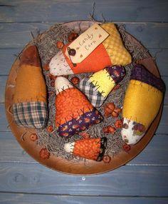 Primitive Candy Corn Ornies Pattern