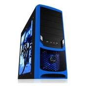 Stylish side panel, bright LED lights, good price - Raidmax ATX-238WU Tornado ATX Mid Tower Gaming Case (Blue)