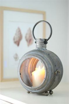 Round Metal Miners Lantern