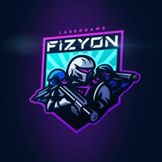Warriors of future ⚡️for lasertag team FIZYON Typography Logo, Art Logo, Team Logo Design, Sport Design, Robot Logo, Sports Team Logos, Esports Logo, Love Logo, Great Logos