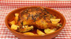 Cómo hacer pollo adobado al horno, receta fácil