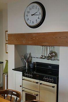 Range cooker in chimney breast