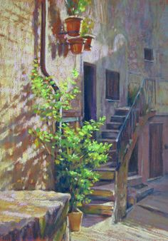 Pastel Paintings of Italy by Jill Stefani Wagner 'in ombra'