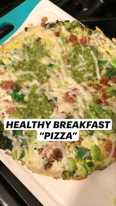 Healthy Pizza, Good Healthy Recipes, Diet Recipes, Healthy Snacks, Healthy Eating, Cooking Recipes, Brunch Recipes, Breakfast Recipes, Breakfast Ideas