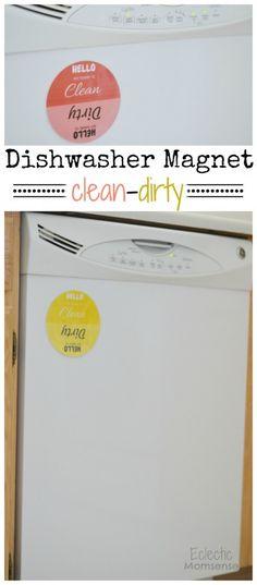 Clean Dishwasher Magnet {printable}