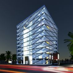 After the successful completion of the Standalone Branches we were  asked by our client Alinma to design their regional branch in Al Khobar KSA. The building is to include a 10 storeys of commercial office space & incorporate a retail branch at street  level. It was designed to engage all levels of the building as well be utilised to naturally heat & cool the building. Externally the glass box  is wrapped in a masheryba framework derived from the geometric patterns also established in the… Office Building Architecture, Architecture Design, Commercial Office Space, Bank Branch, Glass Boxes, Drawing Board, Geometric Patterns, Regional, Branches